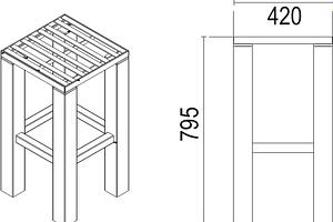 Lasedia Barhocker Designer Möbel mit langer Lebensdauer - Sitzpolster