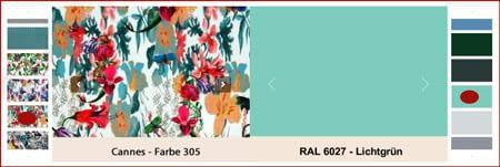 Auswahl Farben- und Stoffe Gartenmöbel La Sedia
